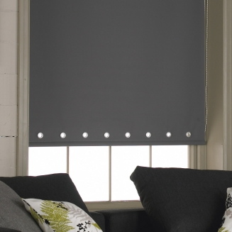 Acacia Grey Eyelets Window blind
