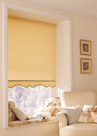 Capri Yellow Window blind