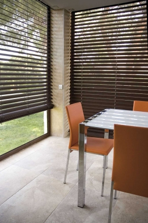 Chocolate Express Window blind