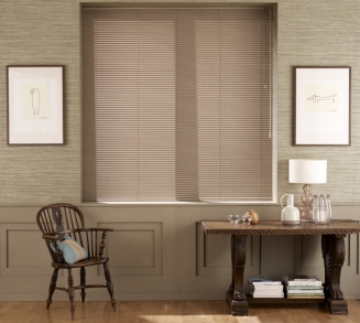 Walnut Window blind