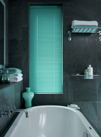 Electric Aqua Window blind