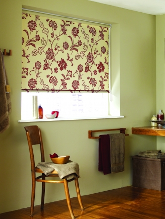 Tamara Deep Red Window blind