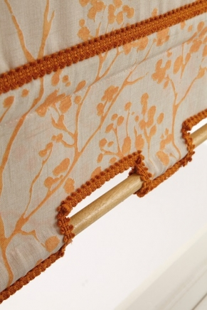 Basistic Orange Window blind