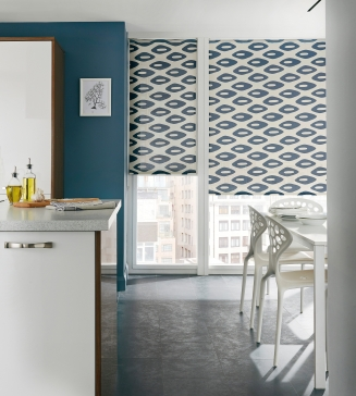 Elipse Blue Window blind
