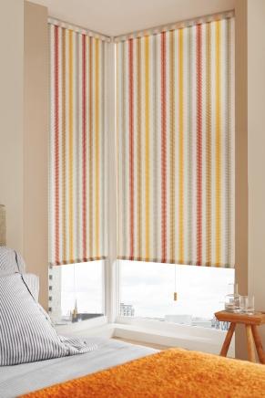 Siesmic Orange Window blind