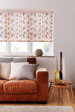 Ribbon Orange Window blind