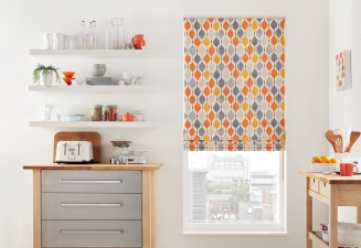 Boogie Orange Window blind