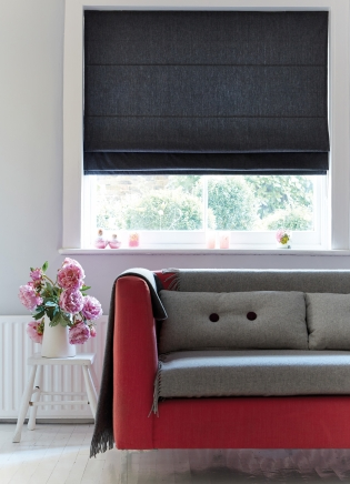 Chambray Charcoal Window blind