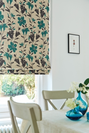 Camelia Teal Window blind