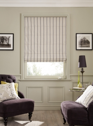 Classic Stripe Dove Window blind