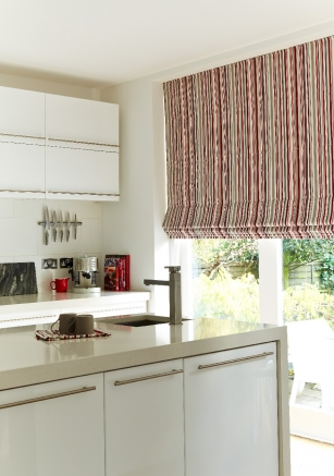 Sea Stripe Cherry Window blind