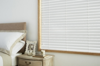 True White Window blind