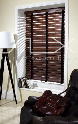 63mm Walnut 38mm pecan tape Window blind