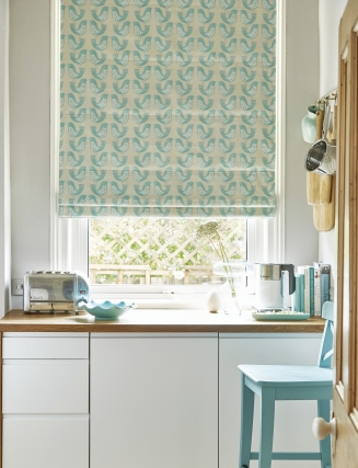 Gustav Turquoise - New Range 2016 Window blind