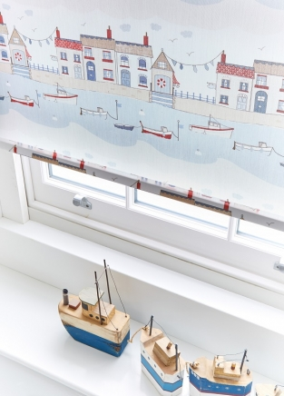 Brixham Blue - New Range 2016 Window blind