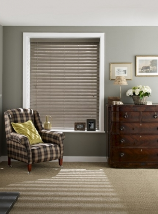 Faux Wood Haze Window blind