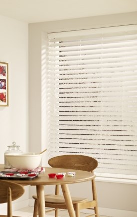 Expressions - Snow Faux Wood Window blind