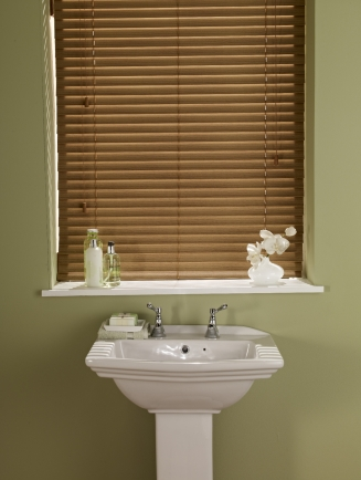 Faux Wood - Medium Oak 50mm Window blind