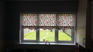 Maren Red Roller Window blind