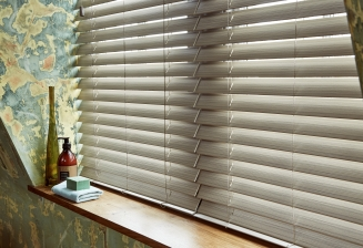 Greige Fauxwood2 Window blind