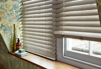 Greige Fauxwood3 Window blind