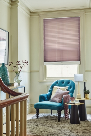 Henley Stripe Lavander / Zen white Window blind