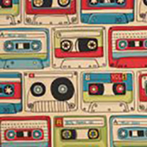 Cassette Mix Tape  - Roller Blinds