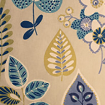 Klara Blue - Roman Blinds