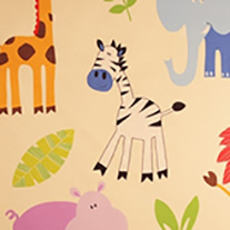 Zoo Time - Roman Blinds