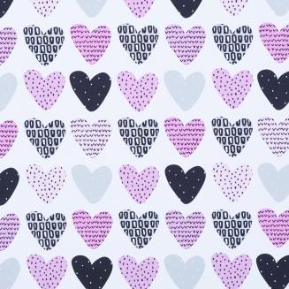 Love Hearts Blush - New Range 2018 - Roller Blinds
