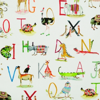 Alphabet Animals Multi - New Range 2018 - Roman Blinds