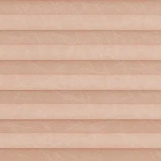 Creped Blush Pink Pleated Blinds - Pleated Blinds